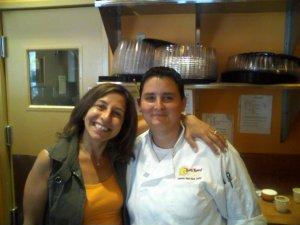 Samara and Candi make Yum Yum! Cafe special.