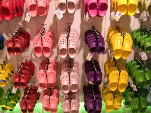 Crocs in London's Covent Garden. Photo credit: Hoodrat's Flickr